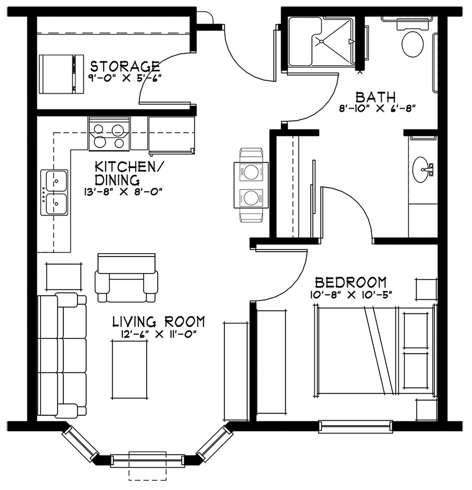 One Bedroom Unit at Grand Meadows