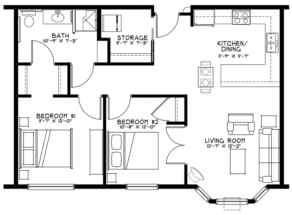 Two Bedroom Unit at Grand Meadows